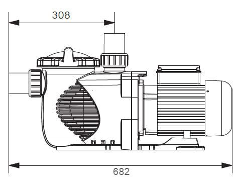 Dimensions Pompe E-Power Bi-Vitesse 1